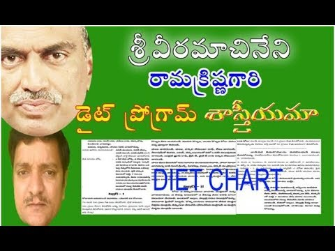Veeramachaneni ramakrishna diabetes diet is scientific for weight loss also rh youtube