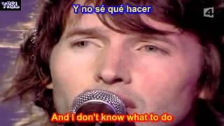 James blunt You're beautiful SUBTITULADO EN ESPAÑOL Y EN INGLES LYRICS SUB