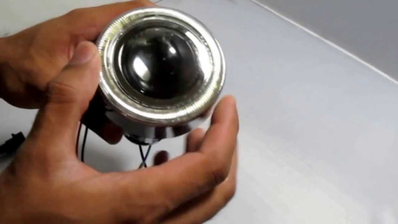 Hid Ready Projector Fog Lamps With Led Halo Angel Eye Rings Youtube Headlight Wiring Diagram