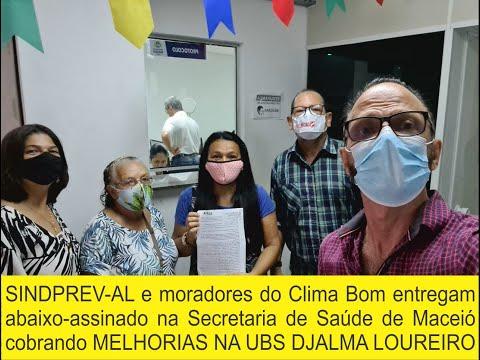 SINDPREV-AL e moradores do Clima Bom entregam abaixo-assinado na Sec. de Saúde de Maceió