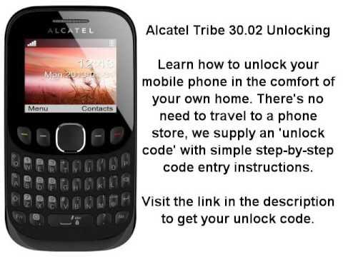 Unlock Alcatel Tribe 30 02 (3002A 3002G 3002X) - Network Key
