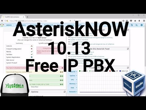 AsteriskNOW 10.13 Free IP PBX Installation + Overview on Oracle VirtualBox [2017]