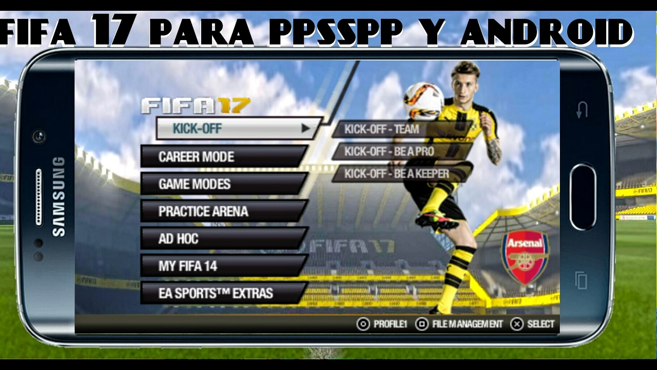 nuevo fifa 17 para psp ppsspp android mod 2014 youtube. Black Bedroom Furniture Sets. Home Design Ideas