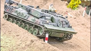 Awesome RC Military Tanks And Trucks In Action!