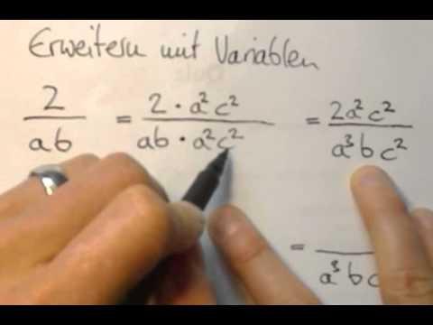Brüche mit variablen kürzen