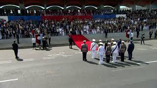 Desfile militar en el marco de la conmemoración del Primer Grito de la Independencia