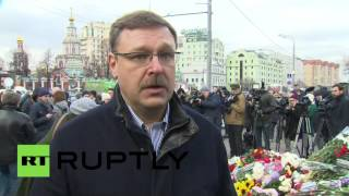 'Paris tragedy should motivate world leaders combat terrorism together' - Russian official(Chairman of the Russian Council Federation Committee on International Affairs Konstantin Kosachev expressed his deepest condolences to the people of ..., 2015-11-14T14:28:25.000Z)