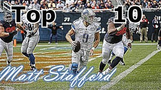 Matthew Stafford Top 10 Plays of Career