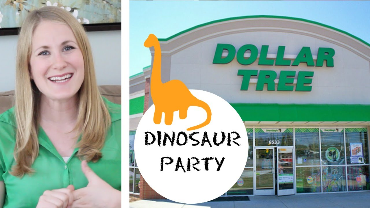 DOLLAR TREE Dinosaur Birthday Party YouTube