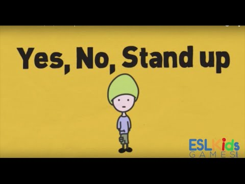 ESL Warmer: Yes, No, Stand up