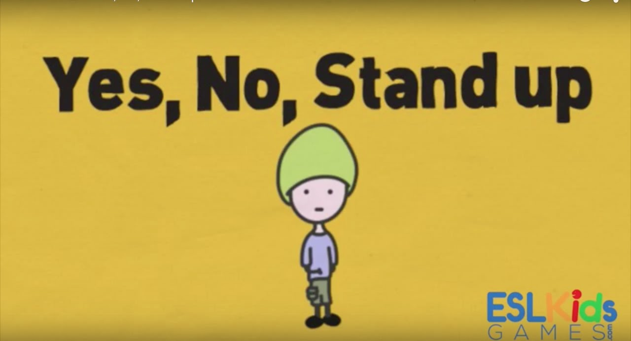 ESL Warmer: Yes, No, Stand up - YouTube