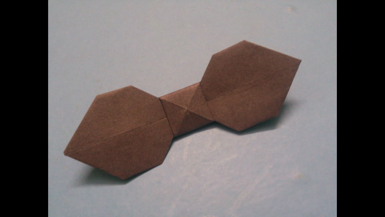 How to make an origami Bow Tie - YouTube - photo#29