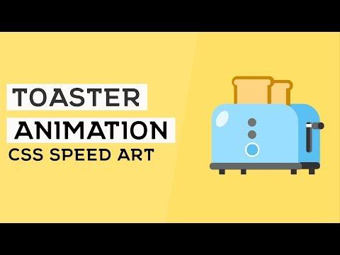 CSS Toaster Animation | CSS Speed Art