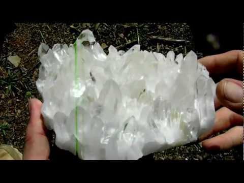 Huge Optical Clear Arkansas Quartz Crystal Glass Back Cluster
