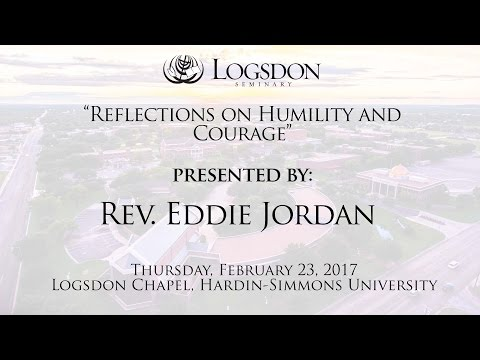 Logsdon Chapel: Rev. Eddie Jordan