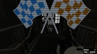 Portal 2: Turret Blocker: 0 Portals, 0:33.69 Glitchless, No BHops (Controller)