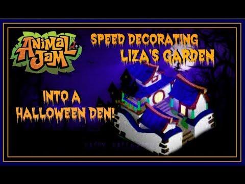 Download Animal Jam: Speed Decorating Liza's Garden Into A Halloween Den!