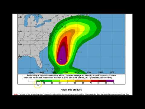 Hurricane Jose Tropical Storms Lee and Maria PM Update Sat 9-16-17