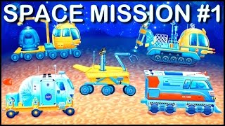 Build & Play Kids Space 3D Construction Puzzles ipad App demo MARS JEEP (Big Trucks & Vehicles)