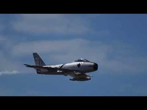 Rare RAAF Sabre CA-27 (F-86) Jet Fighter - Centenary of Military Aviation Airshow Point Cook 2014