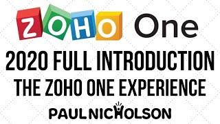 Zoho ONE 2020 Introduction And The Zoho ONE Experience