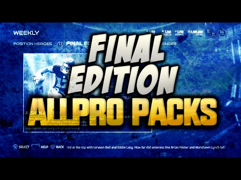 Madden 15 Ultimate Team - NEW FINAL EDITION PACK OPENING! ALL PRO PACKS! MUT 15 PS4