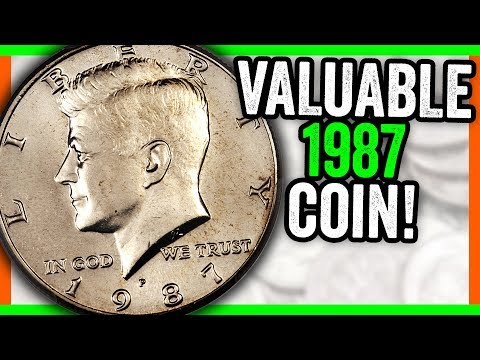 SAVE YOUR 1987 HALF DOLLAR COINS - RARE COINS WORTH MONEY!!