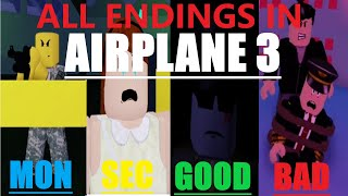 Airplane 3 (Story) - All Endings - Roblox (Secret Games)
