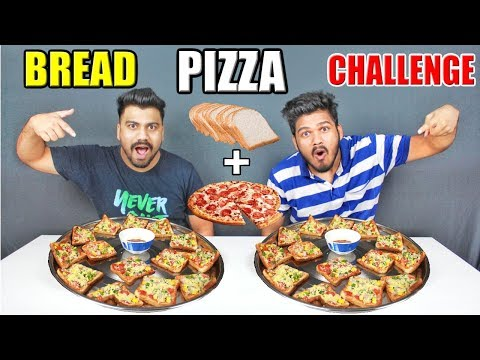 BREAD PIZZA CHALLENGE   BREAD PIZZA EATING COMPETITION  Food Challenge India(Ep-78)