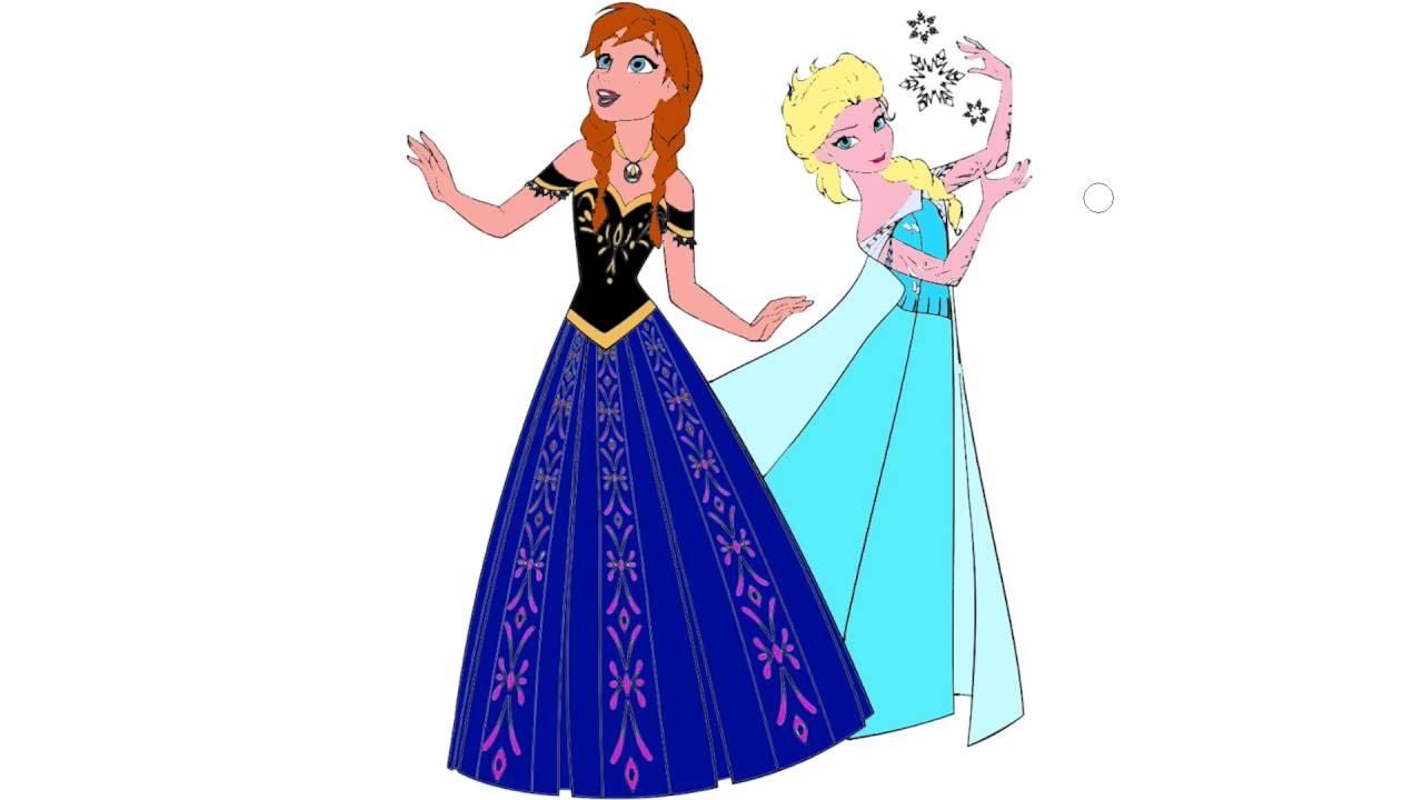 Frozen çizgi Film Karakter Boyama Sayfası 4 Minik Eller Boyama