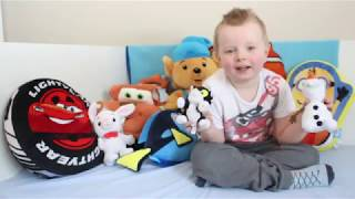 Stuffed animals, pillows, soft toys mater, lightning mcqueen, nemo, dory, minions, bamse for kids!