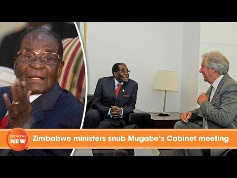 Zimbabwe coup latest updates: Zimbabwe ministers snub Mugabe's Cabinet meeting