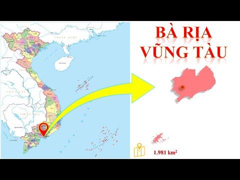 Bản đồ tỉnh Bà Rịa - Vũng Tàu -- Vị trí tỉnh Bà Rịa- Vũng Tàu trên bản đồ hành chính Việt Nam.