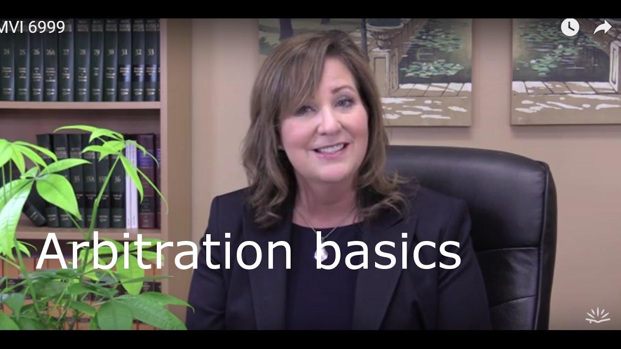 Download Arbitration basics