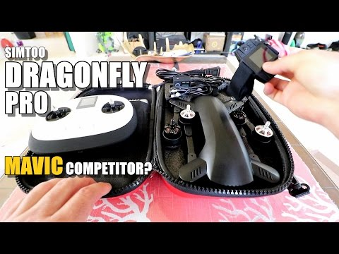 SIMTOO DRAGONFLY PRO Review (Better Than DJI Mavic?) - Part 1 - [Unboxing / Inspection / Setup]