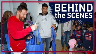 Barça players bring festive cheer to local hospitals