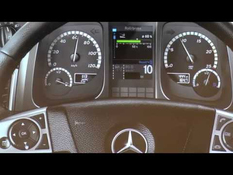 Mercedes Benz Actros Interactive Dash controls explained