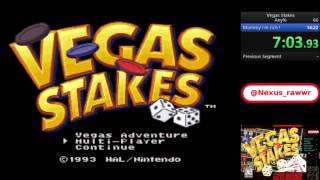 Vegas Stakes (Snes) Any% speedrun in 13m:24s [Former World Record]