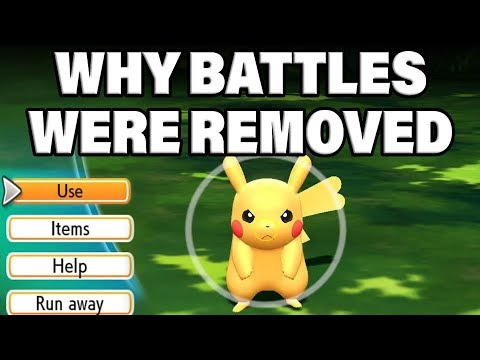 NEW INFO! Why Wild Pokemon Battles Were REMOVED In Pokemon Lets Go