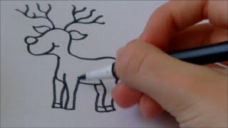 Cartoon reindeer (Rudolph)