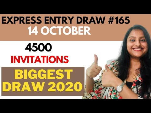 LARGEST Canada Express Entry Draw 165 On 14 October   FSW Draw Canada 165   HUMPTYDUMPTY2