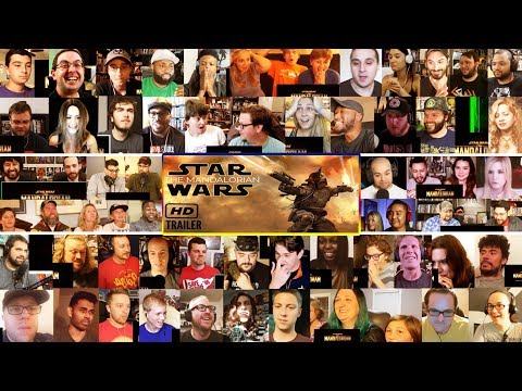 (10+ Youtubers) The Mandalorian Official Trailer REACTIONS MASHUP