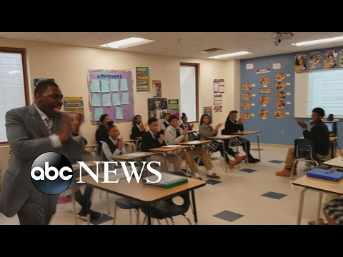 Teacher motivates students with daily mantra