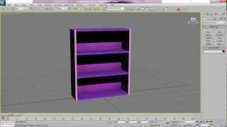 3ds Max Bookcase Part 1