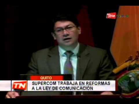 Supercom trabaja en reformas a la ley de comunicación