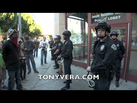 Occupy L.A. protesters March to Men's Central Jail - Los Angeles County Sheriff's Department