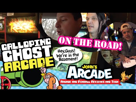 John goes to Galloping Ghost Arcade in Brookfield, IL - Gregg from Arcade Impossible Tour Review
