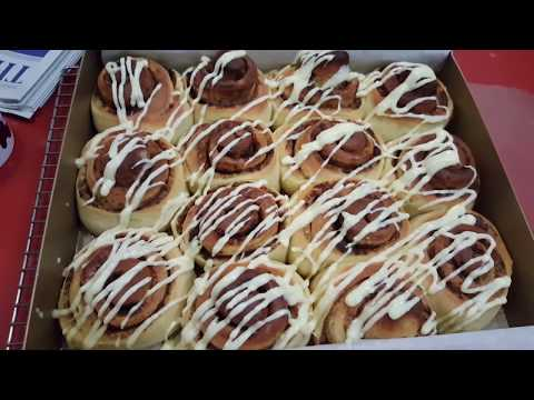 The Noob Cook: Herman Sourdough Cinnamon Buns with Cream Cheese Icing