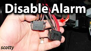 How to Disable Car Alarm
