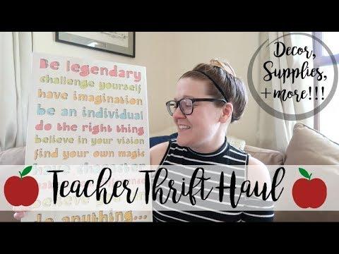TEACHER THRIFT HAUL | CLASSROOM DECOR, SUPPLIES, & MORE | SUMMER 2018